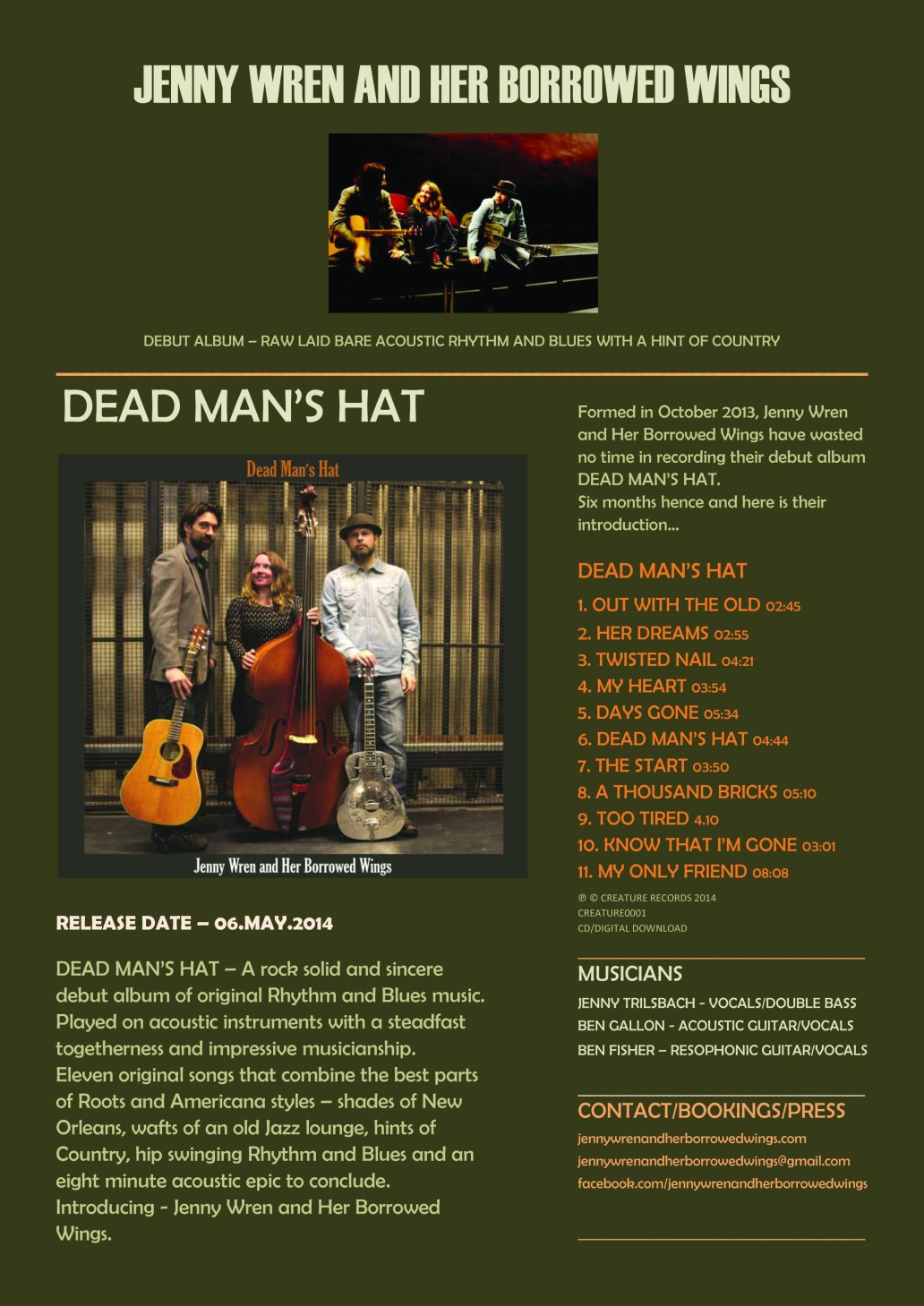 DEAD MAN'S HAT - RELEASE INFO small