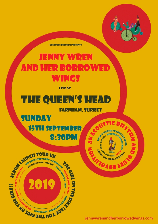 05.queen's head - farnham 15.09.19 - uk 2019 poster