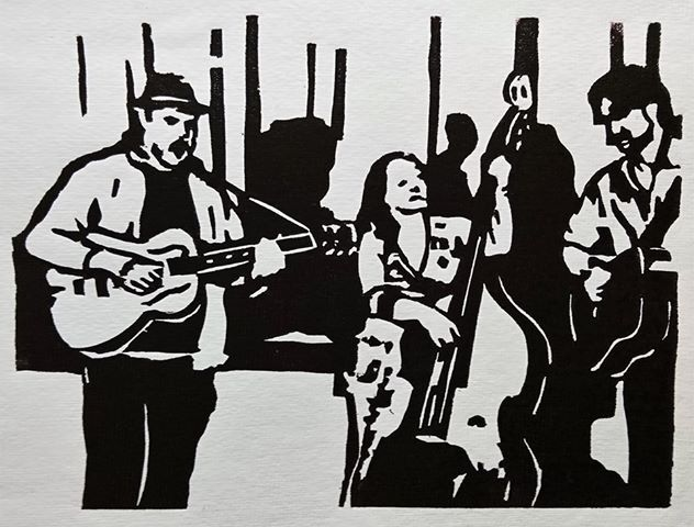 woodcut by Volker Brose (from Zum Stern Hannover 21.10.19)